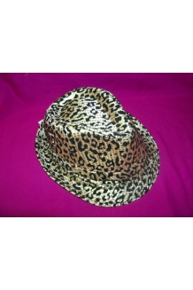 LEOPARD PRINT LIGHT UP TRILBY HAT x 80PCS
