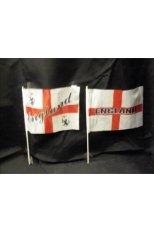 England World Cup Car Flags x 50 only - .10p each for 100 flags
