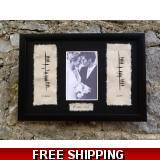 Ogham Wedding Plaque with photo