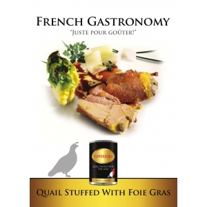 French Quail stuffed with Foie Gras