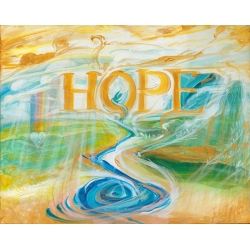 Healing Hope Painting Replica full size stretch canvas