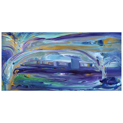 The Bridge of Intercessions med size 10x20 flat canvas embellished replica