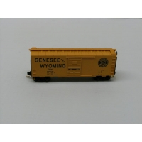 Micro Trains N.40ft Sliding Door Boxcar,Genesee & Wyoming No 100079