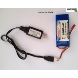 7.4V Lipo RC Battery USB Charger Cable..
