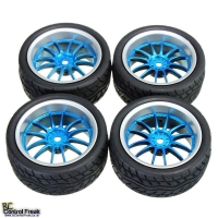 1:10 On Road Racing RC Car Rubber Tires Wheels Tyres 12 Sp..