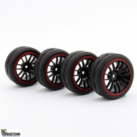 1:10 On Road Racing RC Car Rubber Wheels Tyres Rims HSP HP..