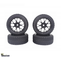 1:10 On Road Racing RC Car Rubber Tires Wheels Tyres Y Spo..