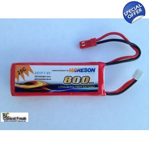 RC Helicopter Battery 7.4v 800mAh 25c Li-Polymer..