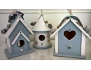 Birdhouse - Blue and wh..