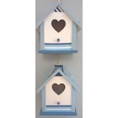 Birdhouse - Blue & White Sea Side