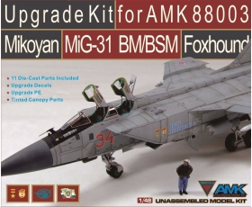 AMK UPGRADE KIT FOR AMK88003 MIKOYAN MIG-31 BM/BSM FOXHOUND 1/48 Limited Production