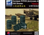 Bronco WWII GERMAN JERRY CAN&FUEL DRUM 1/48