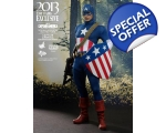 Hot Toys MMS 205 Captain America Star Spangled M..