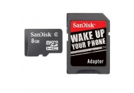 SanDisk Micro SDHC 8GB Card with Adapter