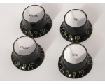 Aged Tinted BLACK Reflector Knobs 5.9mm Shaft Pots
