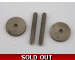 2 Aged THUMB WHEELS & Posts for Tune-o-matic Gib..