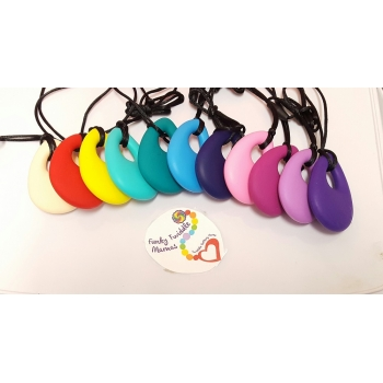 Silicone Drop Baby teething necklace autism sensory nursing breastfeeding babywearing