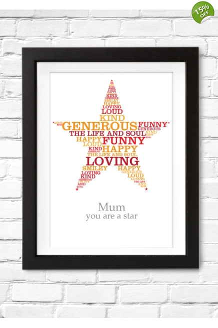 Typographic Star Poster