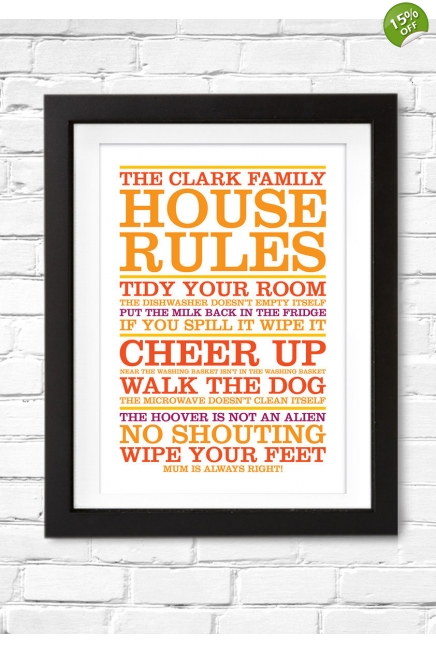 House Rules poster