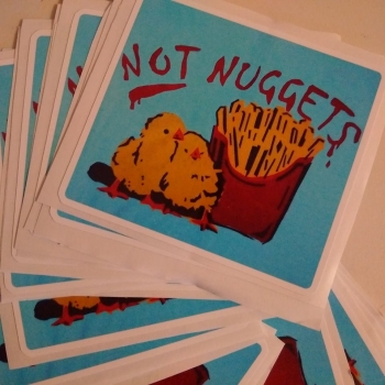 LAPTOP STICKER Not Nuggets