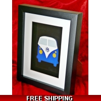 Framed Vw Camper Van Wall Art