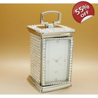 Mr And Mrs Crystal Carriage Clock..