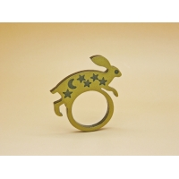 Golden Majestic Hare Ring