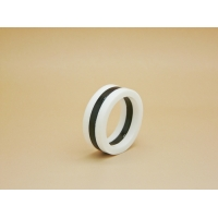 Unisex Monochrome Abstract Art Ring