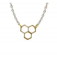 Golden Honeycomb Charm Necklace
