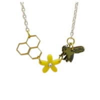 Honey Cycle Multi Charm Necklace