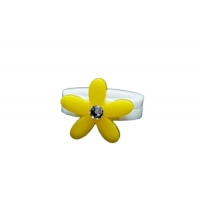 Floral Crystal Daisy Ring