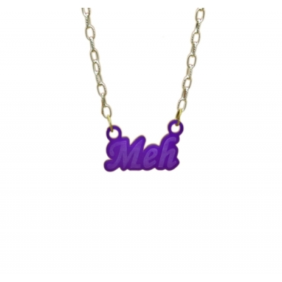 Express Yourself Meh Charm Necklace