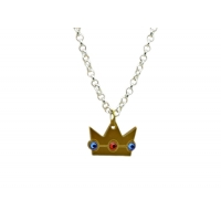 Princess Peach Crown Charm Necklace