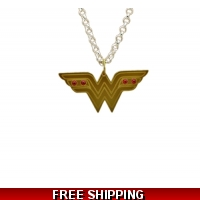 Wonder Woman Bejeweled Charm Neck..