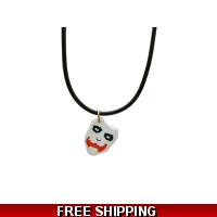 Batman Joker Face Charm Necklace