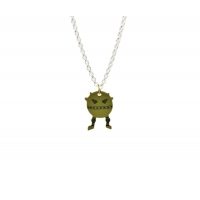 Labyrinth Cannonball Charm Necklace