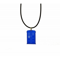 Dr Who Tardis Phone Box Necklace