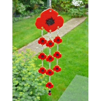 Limited Edition Poppy Wind Chime