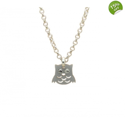 Night Owl Charm Necklace