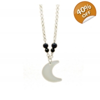Crescent Moonlight skies Necklace