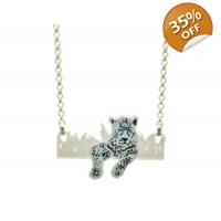 Deluxe Snow Leopard Necklace