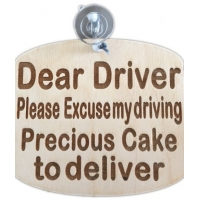 Bakers Car cake sign