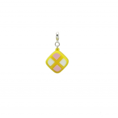Deluxe Battenburg Cake Slice Clip on Charm