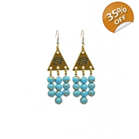 Egyptian Goddess Statement Earrings
