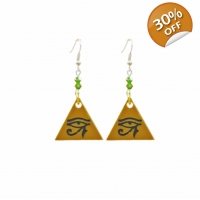 Eye of Horus Crystal Drop Earrings