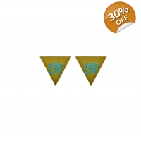 Eye of Horus Pyramid Stud Earrings