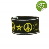 Rock Star Peace Happiness Cuff Br..