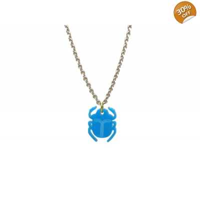 Scarab Beetle Charm Necklace