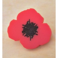 Wild Flower Poppy Pin Brooch Badge