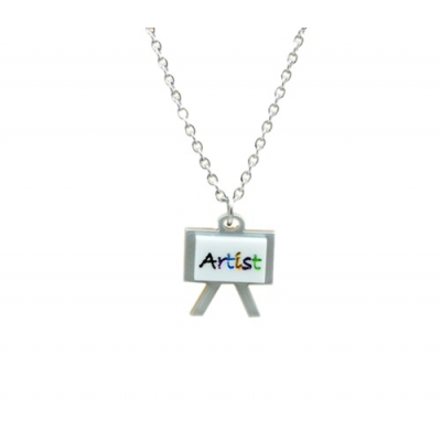 Artist Easel Charm Necklace